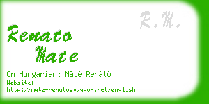 renato mate business card